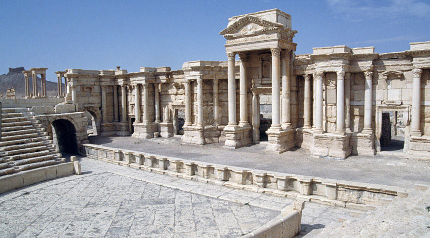 Ancient Palmyra ruins before ISIS destroyed them