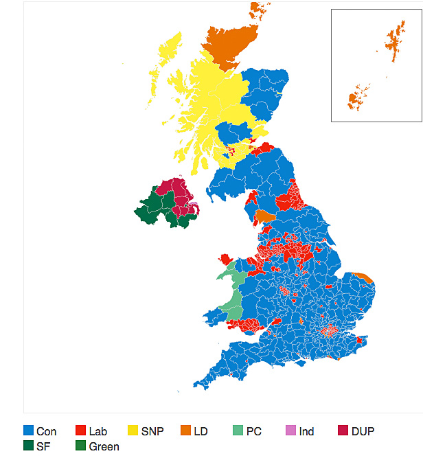 British election map June 2017