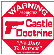 Castle Doctrine Sign