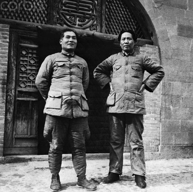 Chang Kuo-t'ao with Mao in Yenan
