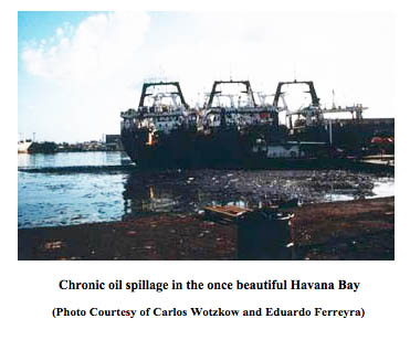 Oil Spillage in Cuba's Havana Bay