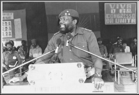 Dr. Jonas Savimbi at UNITA meeting