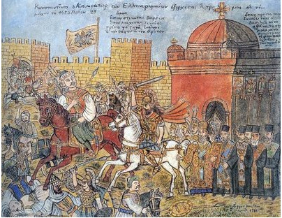 Fall of Constantinople in 1453