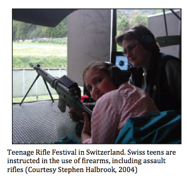 Switzerland youth with firearms