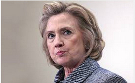 Hillary Clinton with pursed lips
