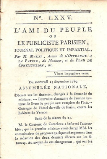 L' Ami Du Peuple by Marat