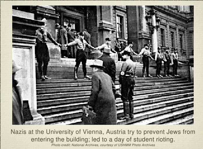 Nazis at the University of Vienna in 1938