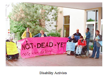 Not Dead Yet Disability Activists