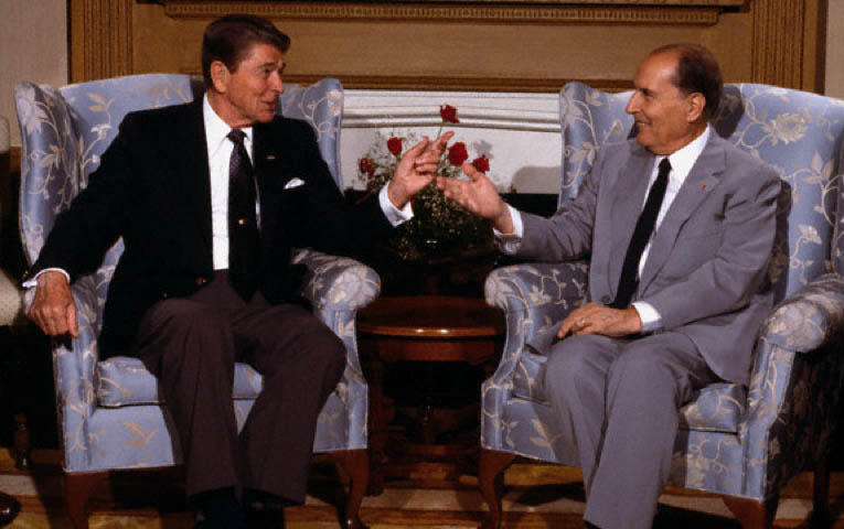 Reagan with Mitterrand