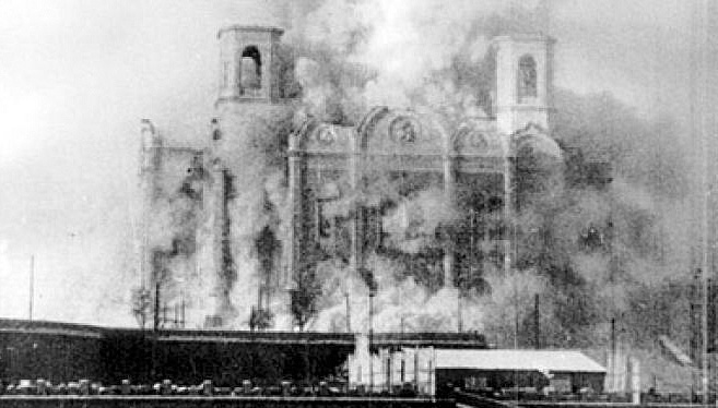 Joseph Stalin's destruction of churches in Soviet Russia