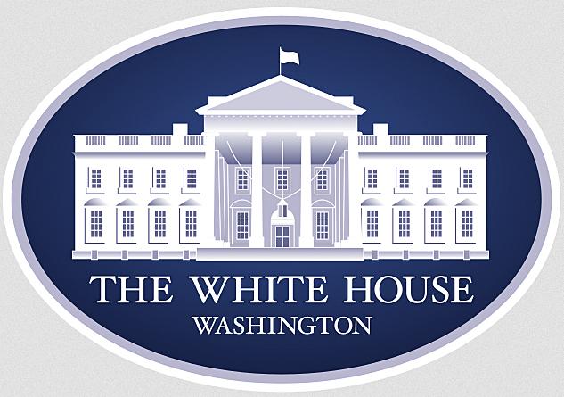 The White House Washington sign